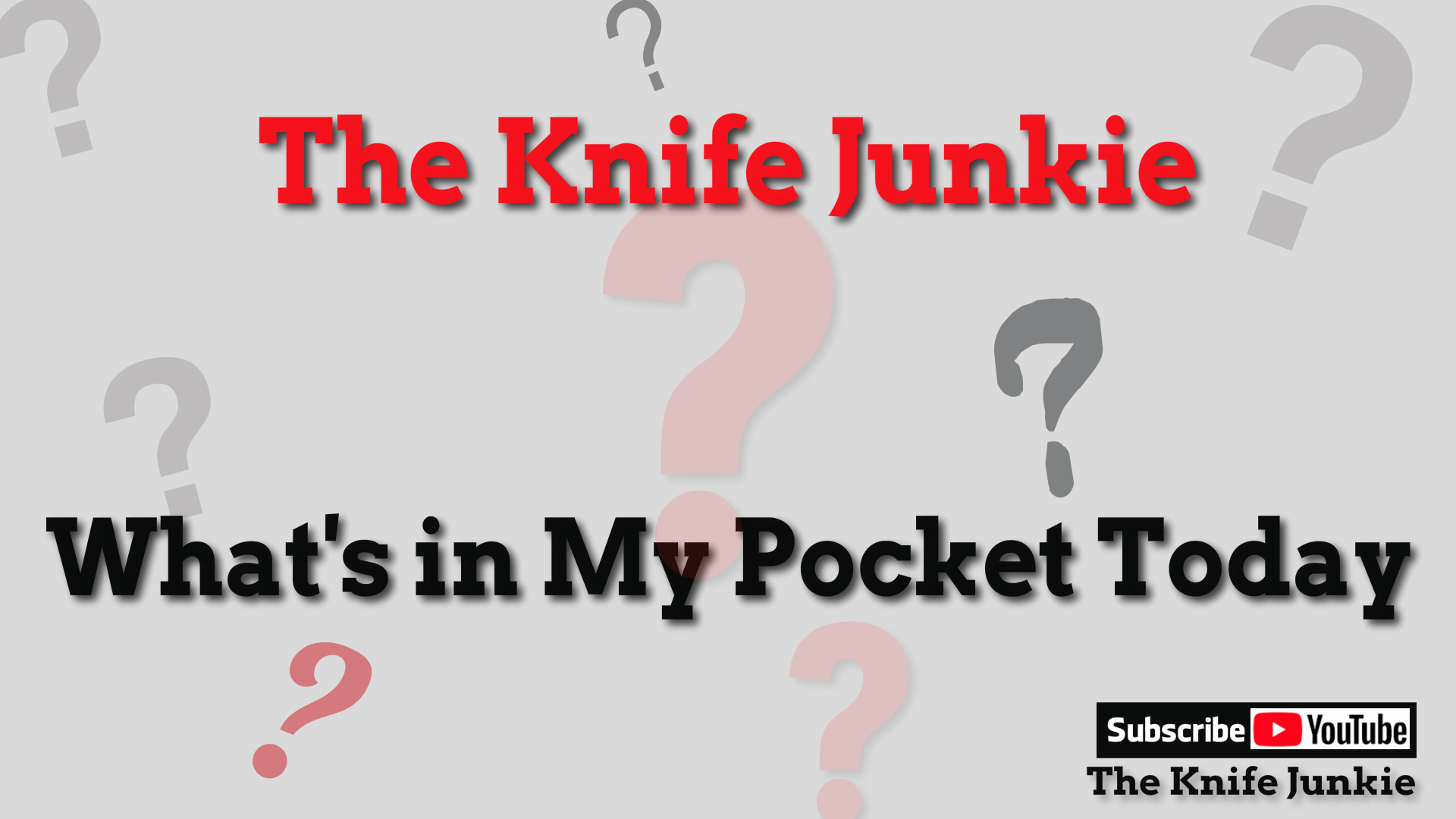 Whats In The Knife Junkie's Pocket Today Monday Oct. 22, 2018