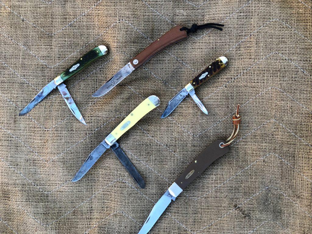 Some of Bob's Slip Joint Folding Knives