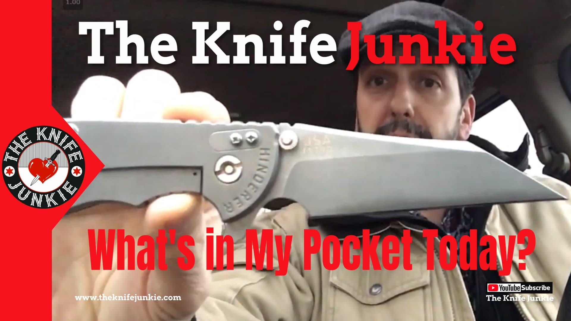 What's in the Knife Junkie's Pocket Today? Hinderer XM-24 Wharncliff, GEC 14 and Cold Steel Broken Skull