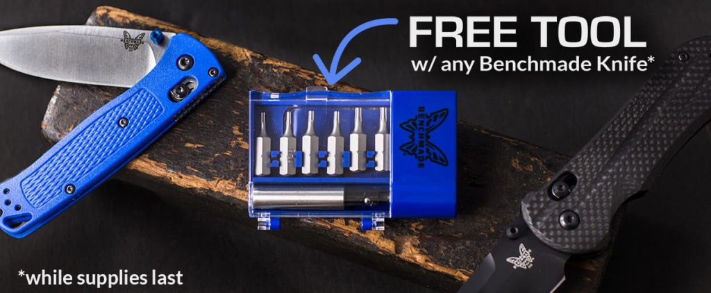 Blue Box Toolkit -- free with any Benchmade Purchase for Black Friday through Cyber Monday