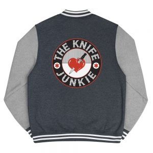 The Knife Junkie Men's Letterman Jacket