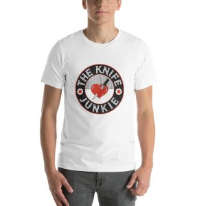 The Knife Junkie | Don't Take Dull for an Answer – Short-Sleeve Unisex T-Shirt (Bella + Canvas)