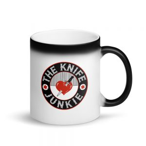 The Knife Junkie Matte Black Magic Mug