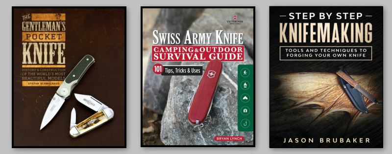 Books about knives, knife collecting, knife making, gentlemen's knives, gentlemen knife, swiss army knife, victorinox knife, knifemaking, forging a knife