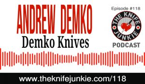 Knife Designer and Maker Andrew Demko Announces the New Shark Lock and the AD20 Knife [The Knife Junkie Podcast Episode 118]