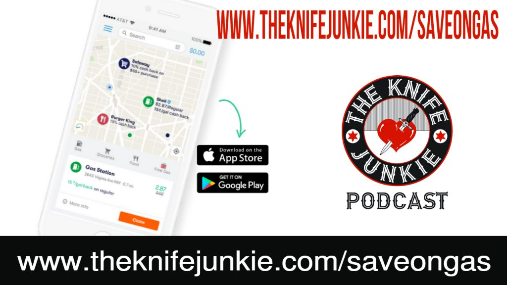 The Knife Junkie save on gas GetUpside app