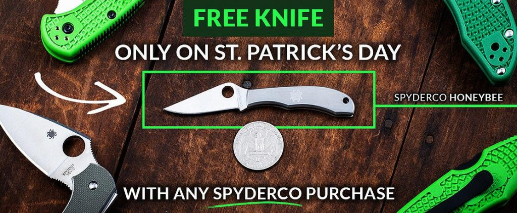 St Patricks Day Free Knife March 17, 2021 Only