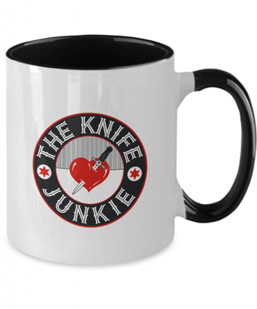 The Knife Junkie Two-tone 11 Ounce Mug