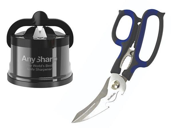 AnySharp Chef Pro Sharpener & Smart Scissors Set