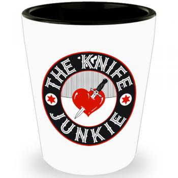 the knife junkie shot glass